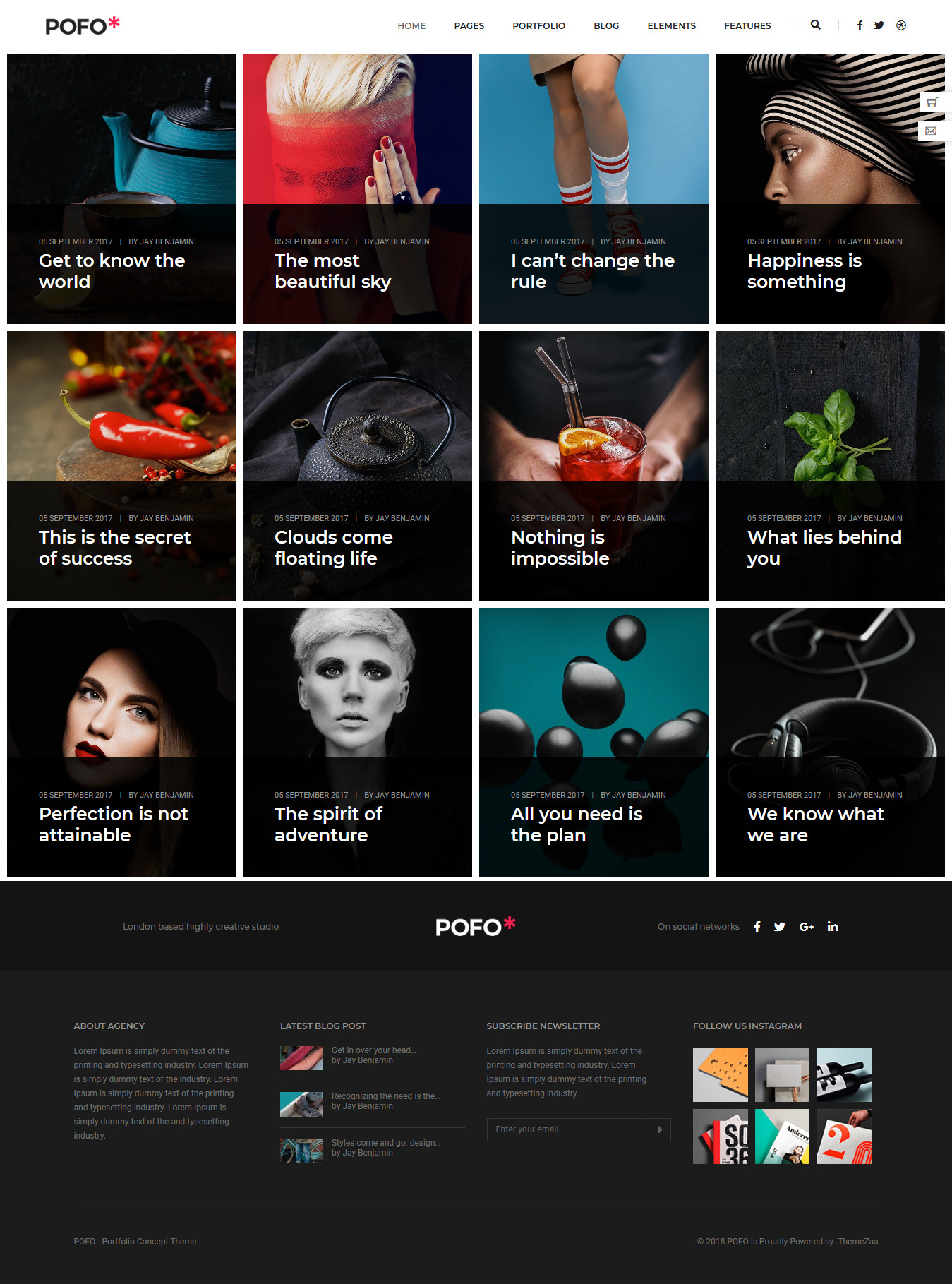 Pofo - Best Blog WordPress Theme