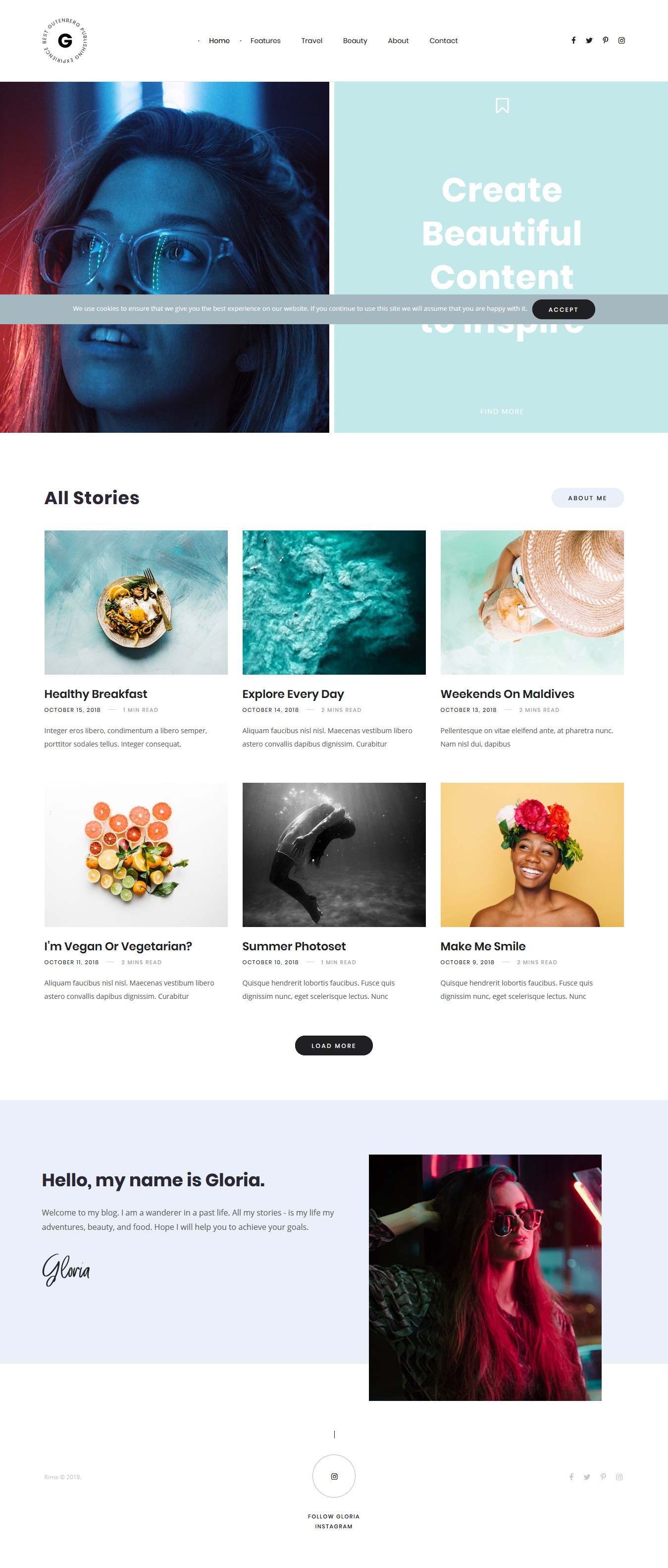 Rima - Best Blog WordPress Theme