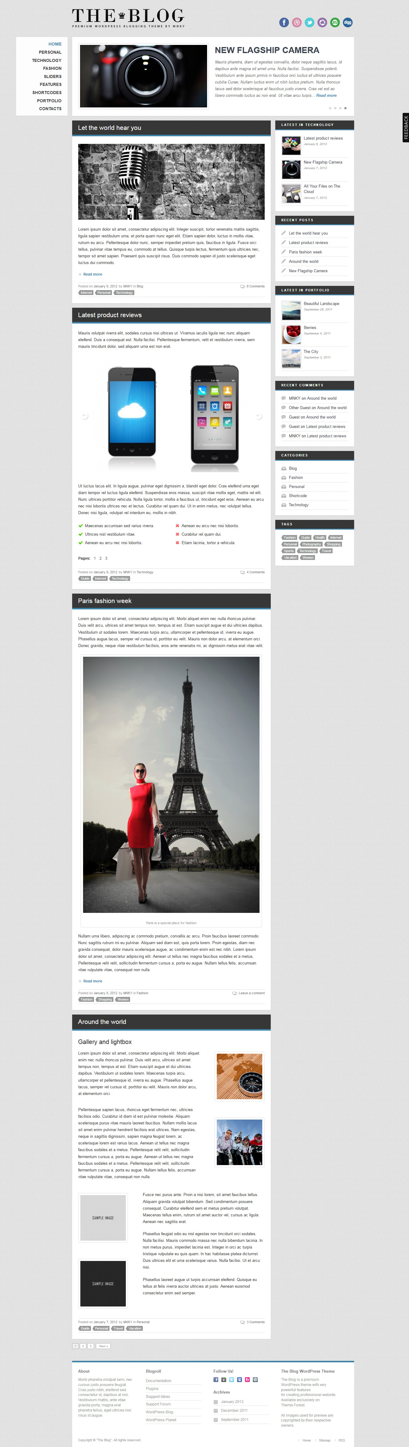 The Blog - Best Blog WordPress Theme