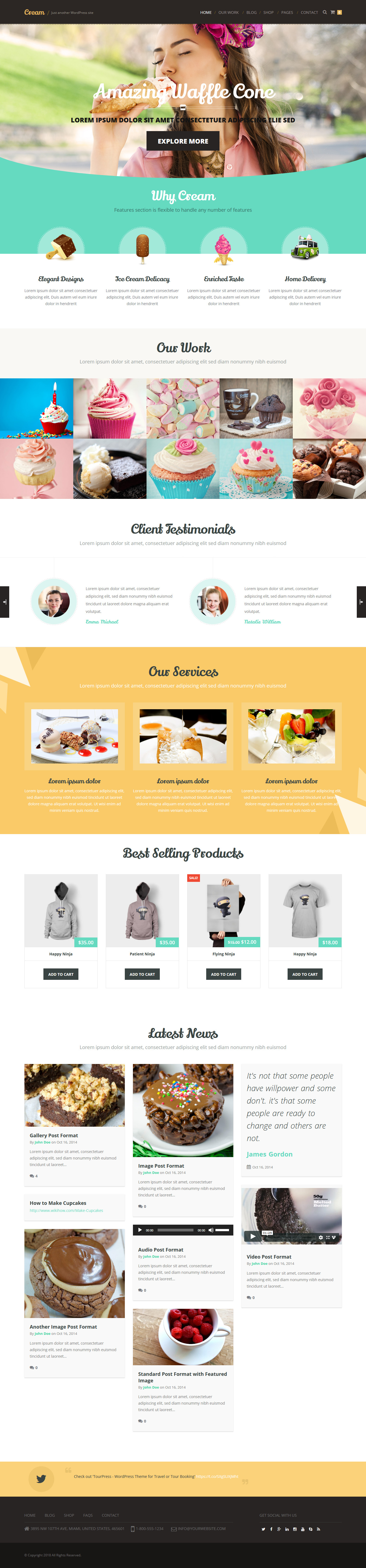 Cream – Best Premium Multilingual WordPress Theme