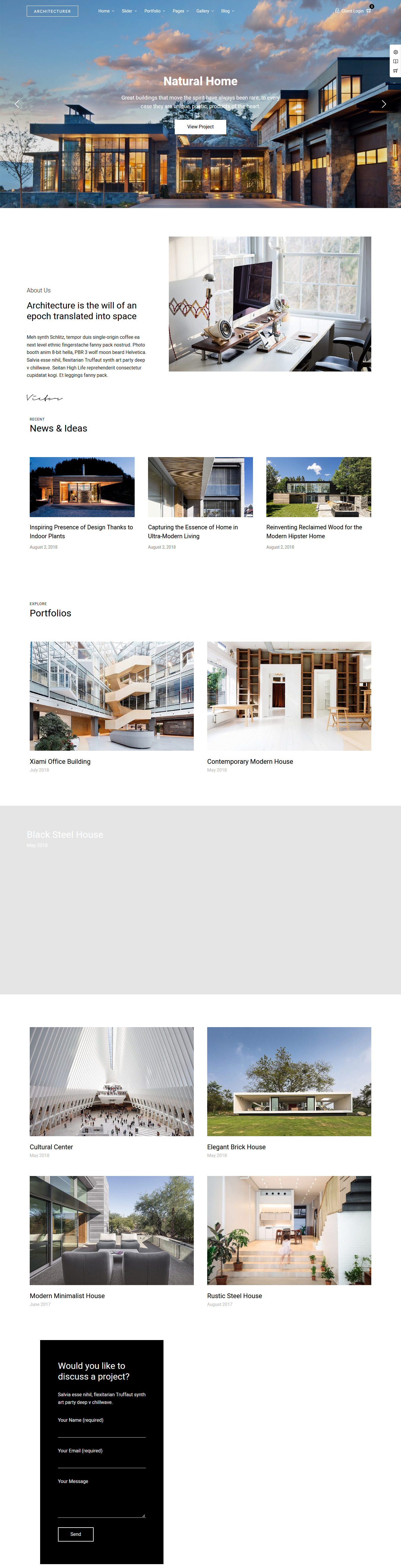 Architecturer – Best Premium Multilingual WordPress Theme