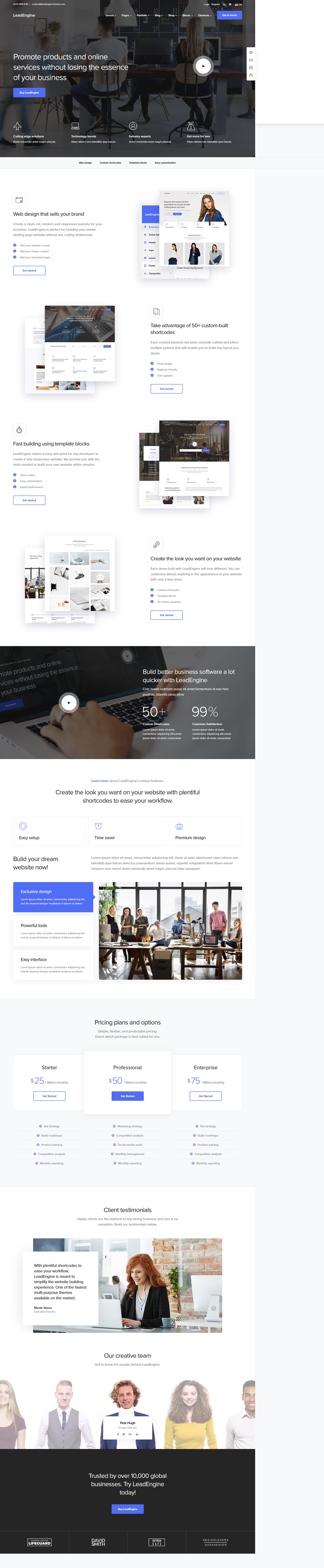 LeadEngine – Best Premium Multilingual WordPress Theme