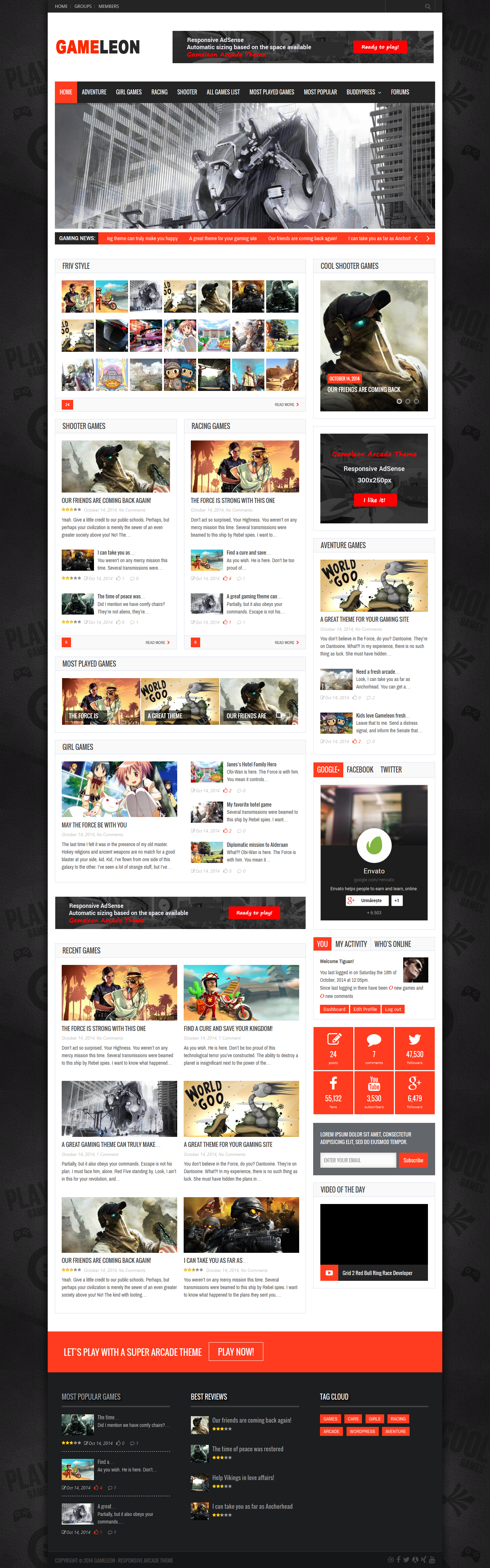 Gameleon - Best Premium Gaming WordPress Theme