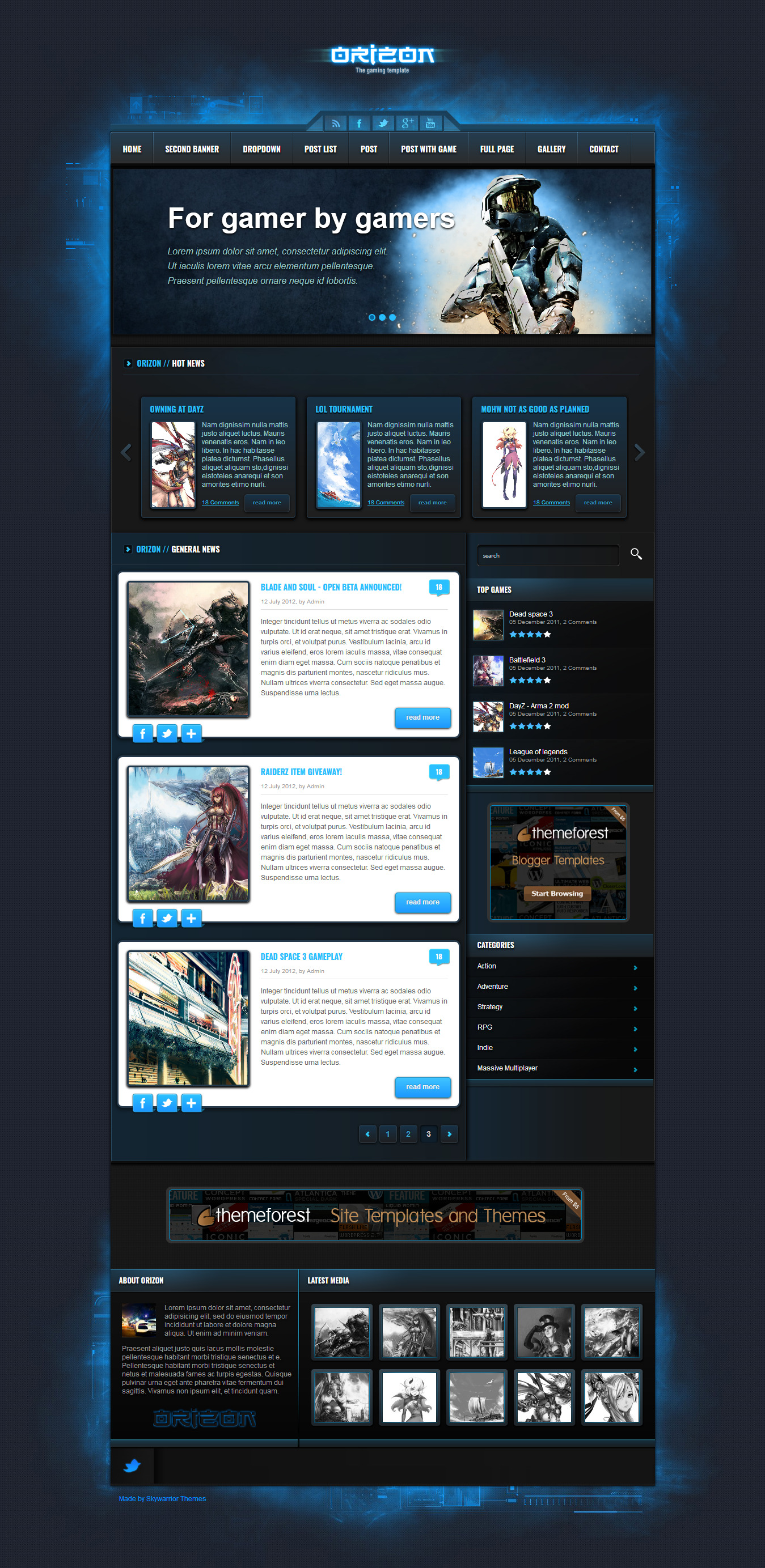 Orizon - Best Premium Gaming WordPress Theme